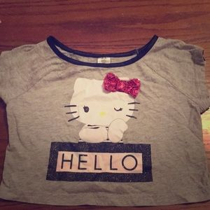 Hello kitty girls crop top